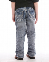 Rock & Roll Cowboy® Boys' Ivory Abstract Boot Cut Jeans