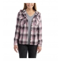 Carhartt® Ladies' Belton Hooded Flannel Shirt