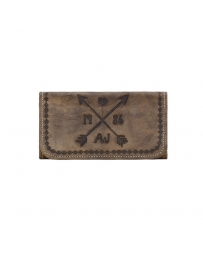 American West® Ladies' Cross My Heart Tri-Fild Wallet