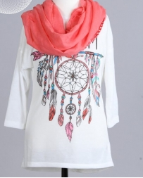 Just 1 Time® Girls' Dream Catcher Top/ Scarf