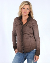 Cowgirl Tuff® Ladies' L/S Button Down Top