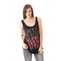 Cowgirl Tuff® Ladies' Back Lace USA Tank