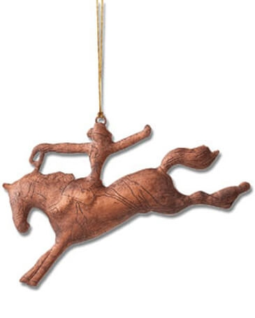 Montana Lifestyles® Copper Saddle Bronc Ornament