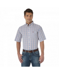 Wrangler® Men's Short Sleeve Plaid Shirt