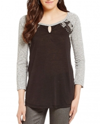 Miss Me® Ladies' Colorback Knit Top