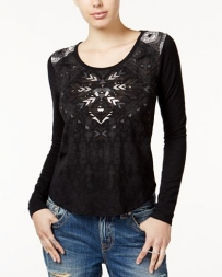 Miss Me® Ladies' Knit 3/4 Sleeve Top