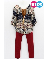 Just 1 Time® Girls' Boho Top and Pant Set