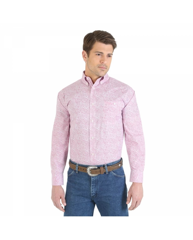 Wrangler® Men's Tough Enough To Wear Pink® Long Sleeve Shirt - Big ...