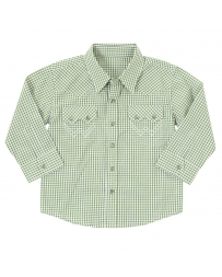 All Around Baby by Wrangler® Boys' Long Sleeve Plaid Shirt