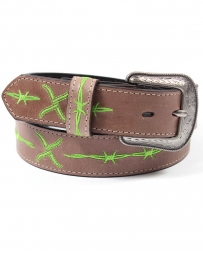 Twisted X Boots® Men's Green Barbwire belt