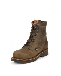 "Justin® Original Workboots Men's Tan Crazy Horse 8"" Lace Boots"
