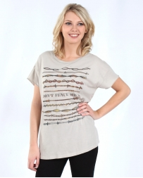 XOXO Art & Co® Ladies' Don't Fence Me In Rocket Tee