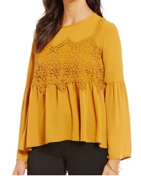Jolt® Ladies' Chiffon Belle Sleeve Top