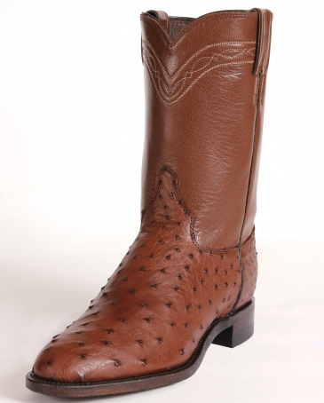 Justin® Men's Antique Full Quill Ostrich Boots