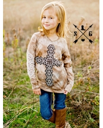 Southern Grace® Kids' Daisy Cross Long Sleeve Tee