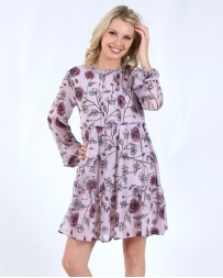 Jolt® Ladies' Paisley Long Sleeve Dress