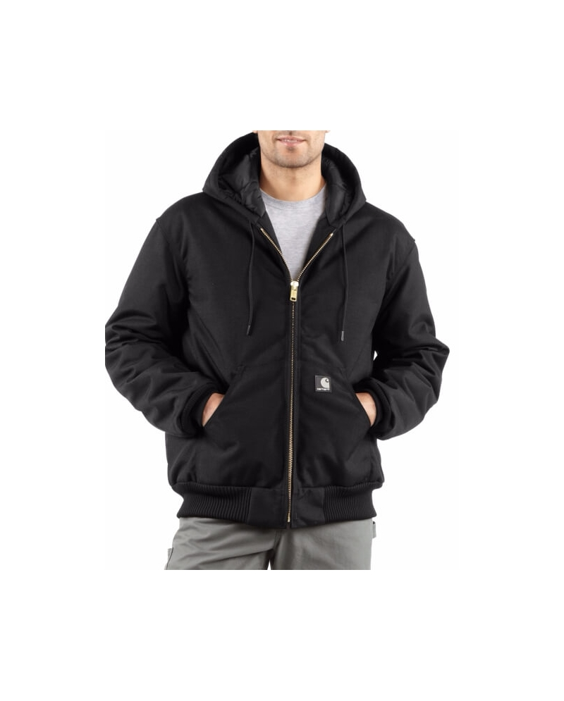 Carhartt Mens Quilted Lined Hooded Jacket Fort Brands