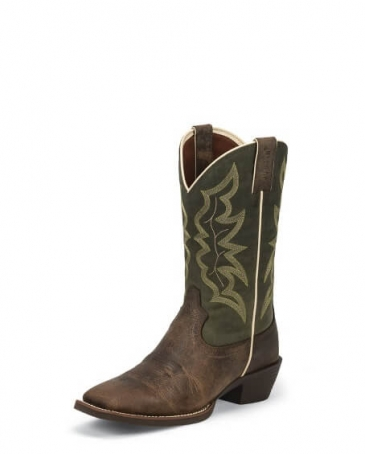 Justin® Boots Men's Stamped Western Boots