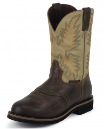 "Justin® Original Workboots Men's Waxy Brown Waterproof 11"" Boot"