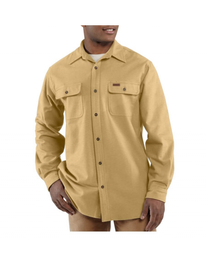 Carhartt Men 39 S Long Sleeve Chamois Work Shirt Fort Brands