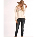 Rock and Roll Cowgirl® Ladies' Scoop Neck & Aztec Top