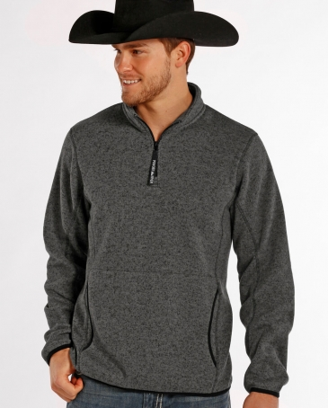 Powder River Outfitters Men's 1/4 Zip Pullover Sweater