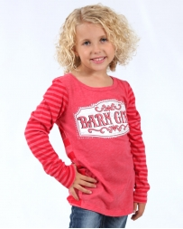Cowgirl Hardware® Girls' Barn Girl Long Sleeve Tee