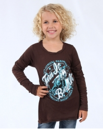 Cowgirl Hardware® Girls' Turn & Burn Long Sleeve 2 fer Tee