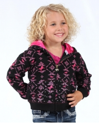 Cowgirl Hardware® Girls' Infant Horse Print Zip Hoode