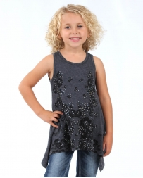 Vocal® Girls' Sleeveless Floral Gem