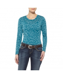 Ariat® Ladies' Leopard Base Layer Top