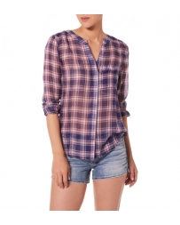 Silver Jeans® Ladies' Button Front Chiffon Plaid Shirt