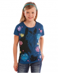 Rock and Roll Cowgirl® Girls' Hearts and Horses Tee