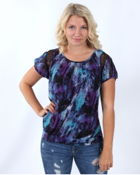 Rock 47 by Wrangler® Ladies' Watercolor Print Top