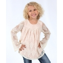 Just 1 Time® Girls' Crochet Top With Lining