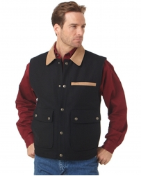Cripple Creek® Men's Wool Vest with Microsuede Trim