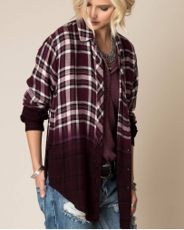 White Crow® Open Arms Ombre Plaid Shirt