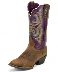 "Justin® Boots Ladies' Purple Buffalo 12"" Boots"