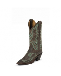 "Justin® Boots Ladies' Bent Rail Chocolate 12"" Boots"