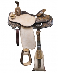 Truth Saddlery® Roper 1/2 Tool Floral Saddle