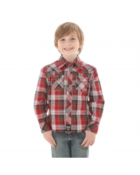 Rock 47 by Wrangler® Boys' Long Sleeve Plaid Shirt