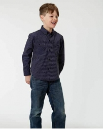 Roper® Boys' Long Sleeve Button Print Shirt