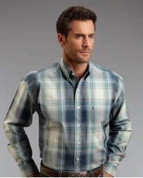 Stetson® Men's LS Button Slate Plaid Shirt