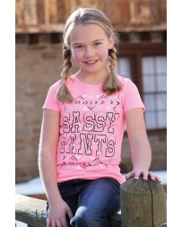 Cruel Girl® Girls' Sassy Pants Short Sleeve Tee