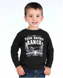 Cowboy Hardware® Boys' Team Ropring Ranch Long Sleeve Tee