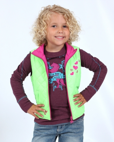 Cowgirl Hardware® Girls' Infant/ Toddler Bubble Horse Vest
