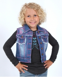 Cowgirl Hardware® Girls' Infant Toddler Horse Head Denim Vest