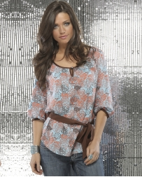 Cruel® Ladies' Floral Top w/Belt