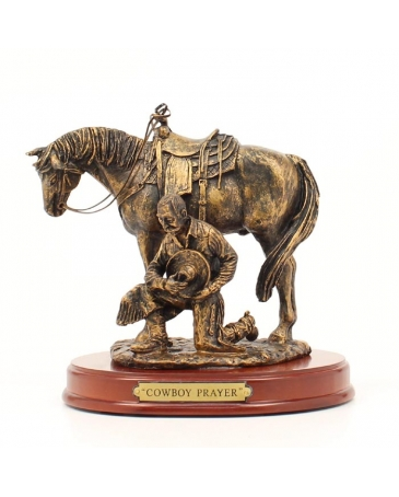 "Western Moments® ""Cowboy Prayer"" Statue"