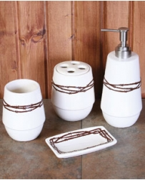 HiEnd Accents® Barbwire Bathroom Set 4PC